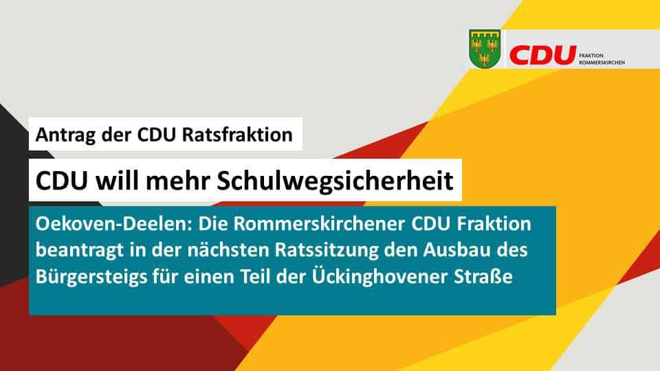 CDU will mehr Schulwegsicherheit
