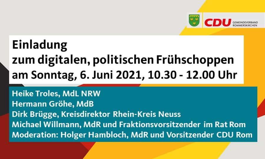 Digitaler Frühschoppen der CDU Rommerskirchen