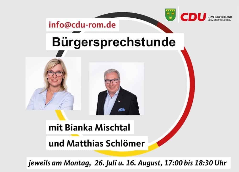 Bürgersprechstunde der CDU Rommerskirchen