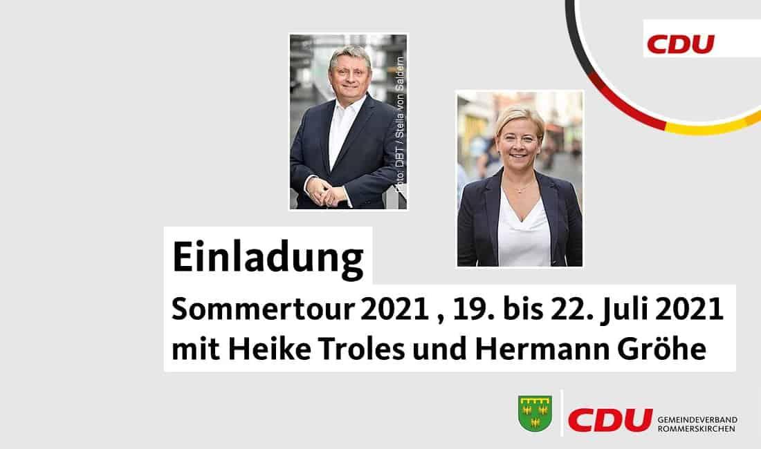 Sommertour mit Heike Troles und Hermann Gröhe