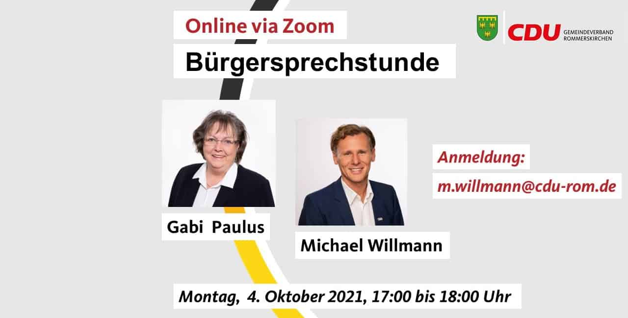 Bürgersprechstunde mit der CDU Rommerskirchen
